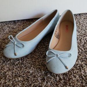 Bongo Baby Blue Ballet Flats